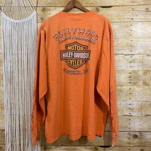 Vintage Destroyed Harley Davidson Hollywood Tee